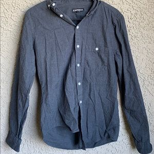Express gray long sleeve dress shirt
